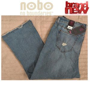 NOBO High Rise Crop Flare Jeans 17 New